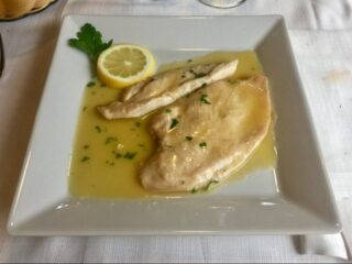 Scaloppina di petto di pollo al limone