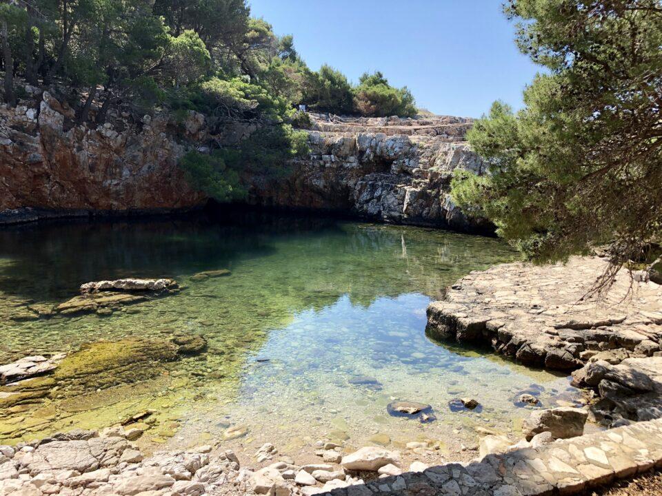Laghetto isola di Lokrum Croazia