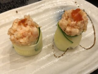 Bignè di riso, zucchine e gamberetti Ristorante Giapponese