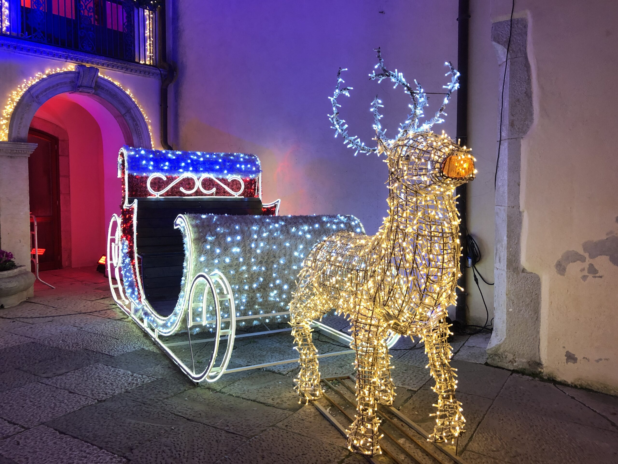 Slitta di luci - Villaggio di Babbo Natale Candela 2019