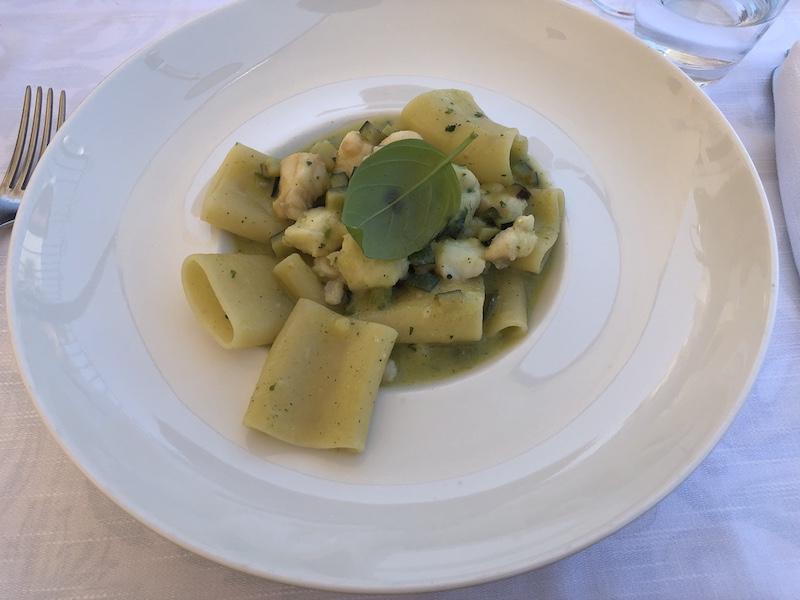 Paccheri spigola e zucchina