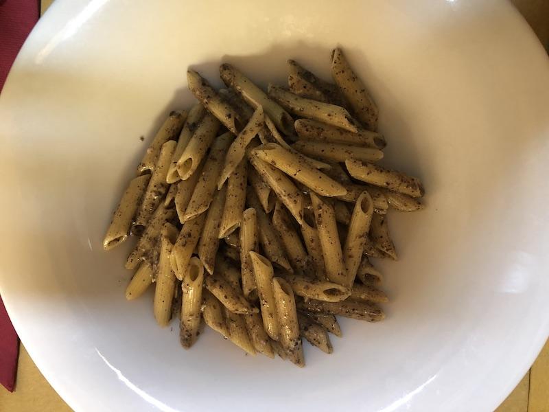 Pennette alla cenere tartufo e gorgonzola - Trattoria Martina Sarzana